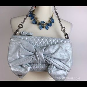 {Juicy Couture} Silver Clutch NWT